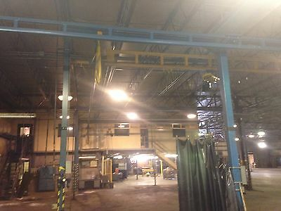 Gorbel Double 1/2 Ton/1000 lb. Free-Standing Bridge Crane & Hoists 47' x 36'