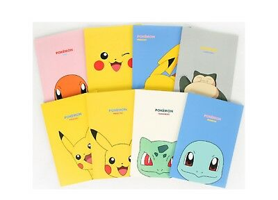 Pokemon Lined Notebook Note Pad (8 Pieces set)