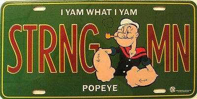 Strng Mn Strong Man Popeye the Sailor Man Novelty License Plate