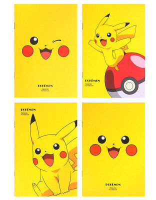 Pokemon Pikachu Lined Notebook Note Pad - Pack of 3