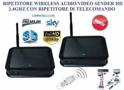 Ripetitore Wireless Audio/video Sender In Hd 2.4Ghz Sky E Mediaset Premium