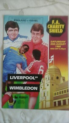 Liverpool  v  Wimbledon  Charity Shield  1988