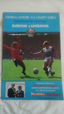 Liverpool  v  Everton   Charity Shield  1986
