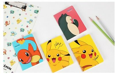 Pokemon Mini Lined Notebook Note Pad - Pack of 4