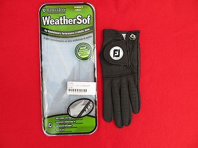 Footjoy Womens Weathersof Golf Glove For Left Hand - Small - Black