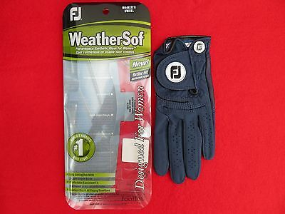 Footjoy Womens Weathersof Golf Glove For Left Hand - Small - Navy