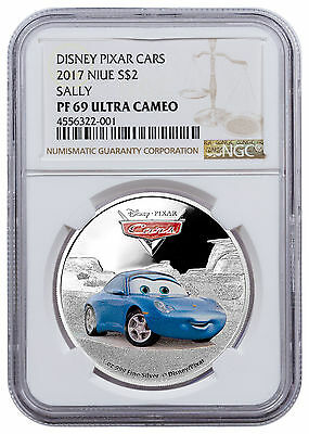 2017 Niue Disney Cars Sally 1 oz. Silver Colorized Proof $2 NGC PF69 UC SKU47605
