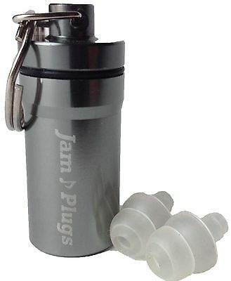 Musicians Earplugs: JamPlugs 19 dB SNR Transparent Reusable Hearing Protection
