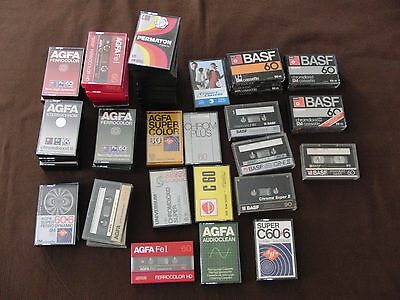50x MC Kassetten Reinigungs Cleaning AGFA Color BASF PERMATON Vintage Tapes