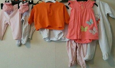 Bundle toddler baby girl 3 to 6months 10 items