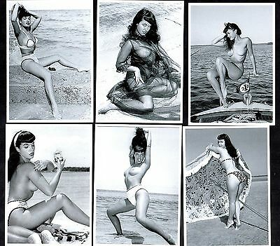 Bettie Page At The Beach Postcard Set Pin-Up Girl Nylon Stockings Erotic Betty