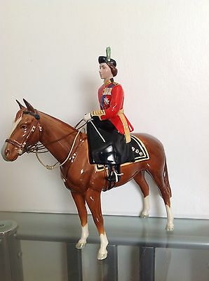 BESWICK HORSE WITH HM QUEEN ELIZABETH II TROOPING THE COLOUR  No1546