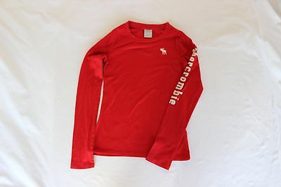 Abercrombie Kids Boys Red Long Sleeve T Shirt Size XL Excellent Condition