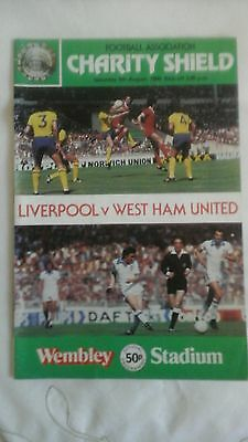 Liverpool  v  West Ham  Charity Shield   1980