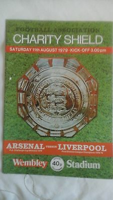 Liverpool  v  Arsenal  Charity Shield   1979