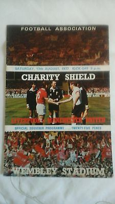 Liverpool  v  Manchester United   Charity Shield   1977