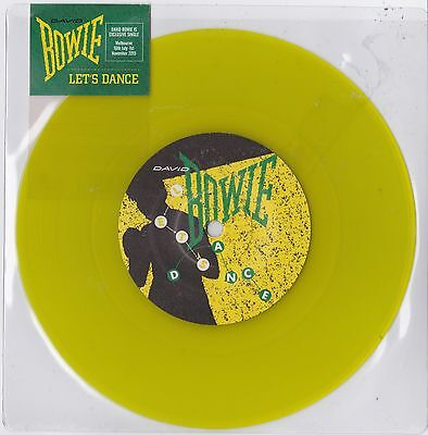 "David Bowie - Let's Dance - Very rare 2015 Australian Yellow Vinyl 7"" SEALED"
