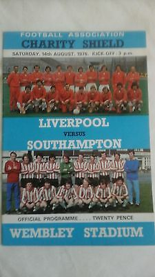Liverpool  v  Southampton    Charity Shield   1976