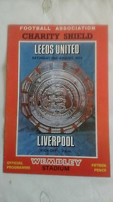 Liverpool  v  Leeds United   Charity Shield   1974