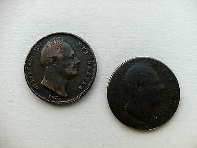 King William IIII - Two Farthing Coins dated 1831, & 1833?. Reference Spink 3848
