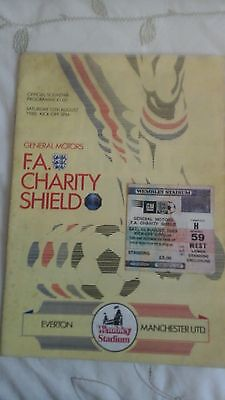 Everton  v  Manchester United   Charity Shield   1985