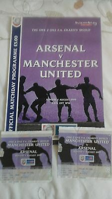 Arsenal  v  Manchester United   Charity Shield  1999