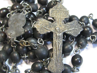 "† Carmelite Nun Made ""rose Scented"" Pressed Real Roses Rosary & Pardon Cross †"