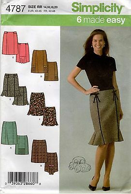 *Simplicity 4787 SKIRT in 6 Variations Sewing Pattern Uncut Size 14-16-18-20