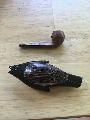 Vintage Treen Whistle And Pipe.