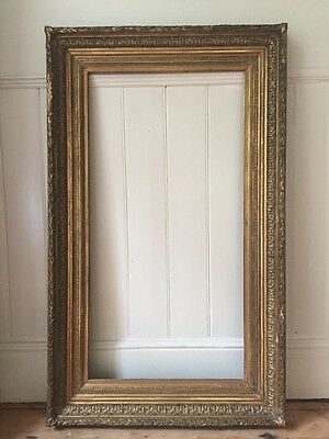 Large Antique 19th Century French Gilt Gesso Picture Frame 128cm X 78cm