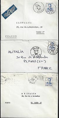 MOROCCO 1950 60's COLLECTION OF 6 COVERS DIFFERENT TOWN CANCELS OUJDA SAFI AHFIR