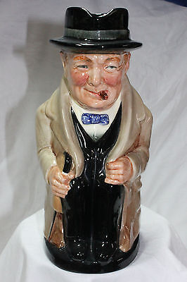"Vintage Royal Doulton Winston Churchill 9"" Toby Jug signed"
