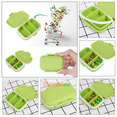 3 Grids Portable Travel Pill Box Medicine Storage Case Jewelry Holder Container