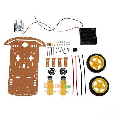 Smart Robot Car Chassis Kit Speed Encoder Battery Box DIY Kit 2WD 2 Motor 1:48