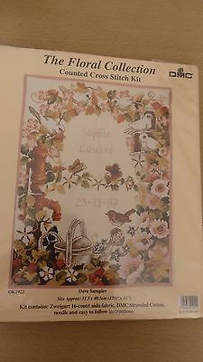 DMC FLORAL COLLECTION -   Counted Cross Stitch Kit . Dove Sampler