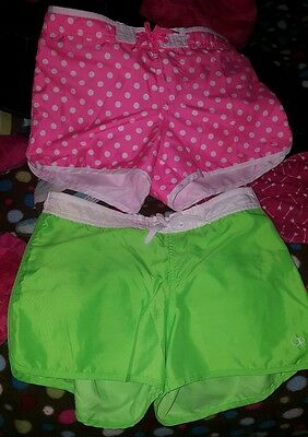 Girls Lot of 2 shorts. pink and green. size xl