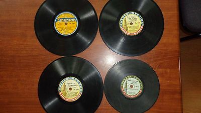 Vintage 4 Lot WW1 Emerson 1916-18 78rpm Records~We're Going to Hang The Kaiser
