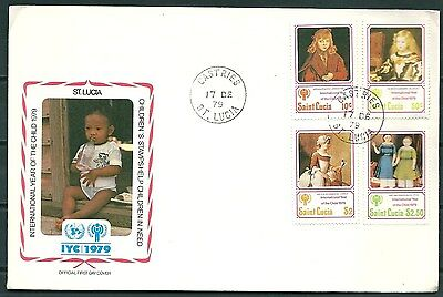 St. LUCIA 1979 FDC INTERNATIONAL YEAR OF THE CHILD, CASTRIES POSTMARK-CAG 050617