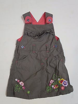 Baby girls dress pinafore dungaree M & S age 9 - 12 months NEW