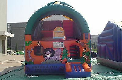 MASSIVE JUMPING CASTLE SALE 4mx5.5m x5m tall Jungle water or dry Slide USED