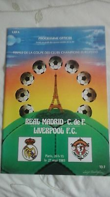 Liverpool  v  Real Madrid   European Cup Final   1981