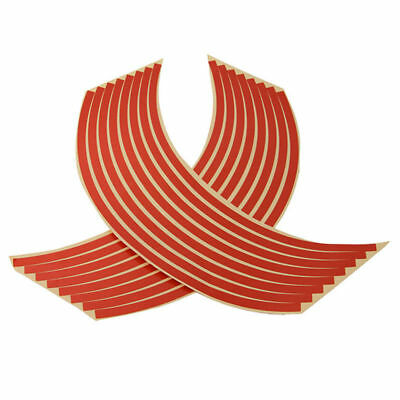 Motorcycle Premium 17 Inch Rim Tape 16 Piece Red