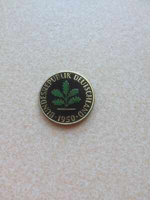 Hand Painted Coin German
