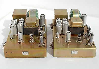 Pair of extremely rare 60's Vintage Tube Control Amps LOMO UK-4