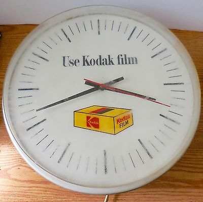 Dualite Kodak Film Clock Round Advertisement For Wall