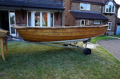 8ft classic pram wooden sailing dinghy