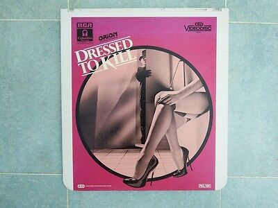Dressed To Kill CED Video Disc PAL/UK