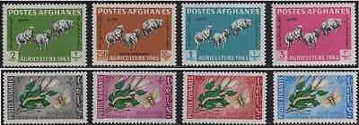 Afghanistan 1963 Mi 738A-745A MNH Agriculture Day Sheep Moth Caterpillar