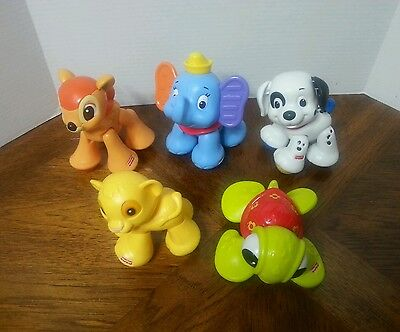 Fisher Price Disney Amazing Animals Lot of 5 Clicker Pal Baby Toy