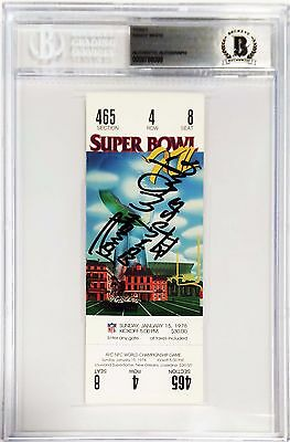 """Randy White Signed Replica Super Bowl XII Ticket """"Co MVP SB XII"""" BAS Slabbed"""
